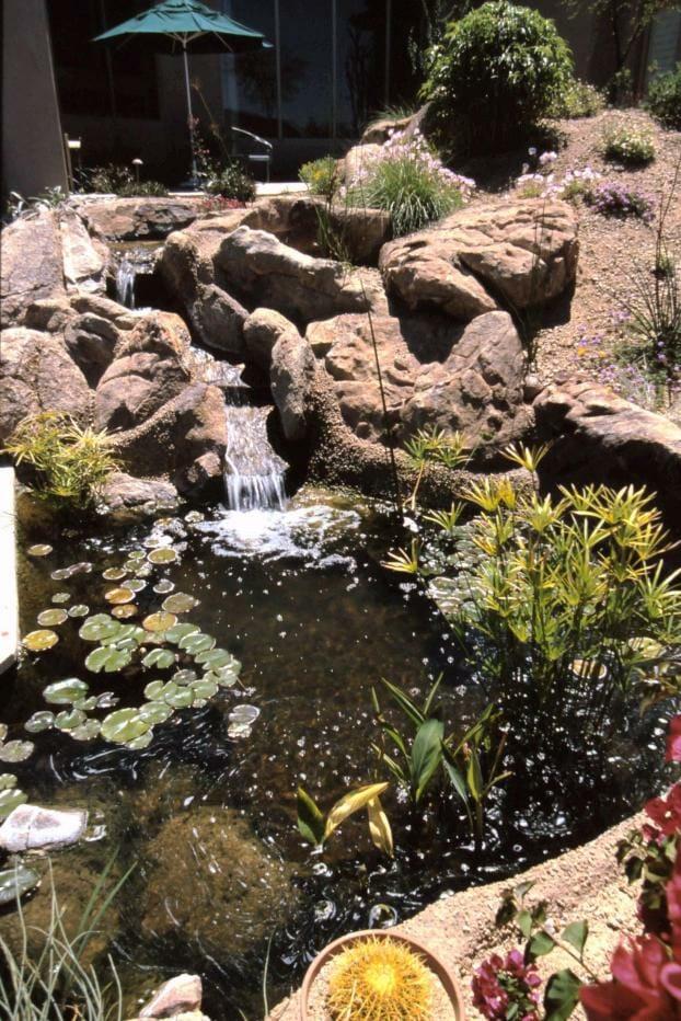 serene waterfall